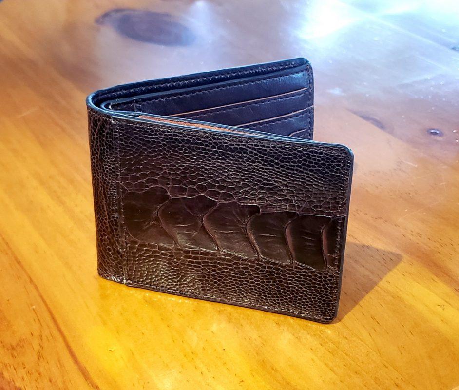 Mặt danh thiếp của ví ngang da đà điểu